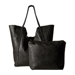 Ladies Tote bag,bag in bag,dual woven shoulder straps with chain detail