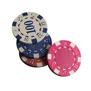 Dice Pattern Poker Chips Set Manufacturer