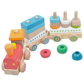 Children Wooden Block Train Manufacturer