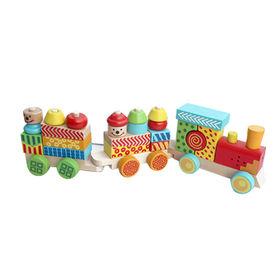 Wooden big block train toy for kids Manufacturer