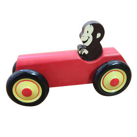 China Kids educational smart wooden animal car toy