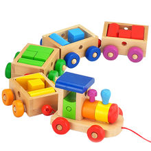 Baby early learning wooden toy train Manufacturer