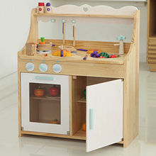 Wooden kitchen furniture toy set Manufacturer