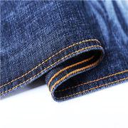 11oz slub black cotton polyester denim fabric Manufacturer