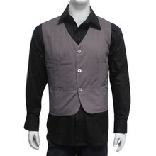 China Men's vest, made of 80% cotton and 20% polyester, high quality