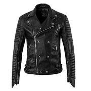 Classic Men's Black PU leather jackets Bomber Jack Manufacturer
