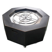 Outdoor fire pit / 42 Inch Stainless Steel Octagon Manufacturer