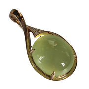 Light Green Oval Prehnite Pendant from China (mainland)