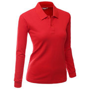 Women's long-sleeved polo shirts from China (mainland)