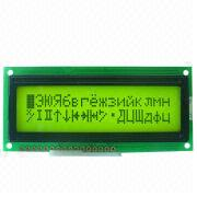 16-character 2 Lines STN/FSTN Display, 5.55mm Font Height, Sized 80 x 36 x 13.8mm