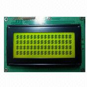16 Characters x 4 Lines Dot-matrix LCD Module, Yellow/Green Backlight, ST7066U-0A from Xiamen Ocular Optics Co. Ltd