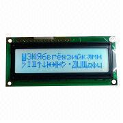 Dot-matrix LCD module, 16 x 2 characters, white backlight, 2 LEDs from Xiamen Ocular Optics Co. Ltd