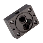 Hong Kong SAR China precision hydraulic manifold valve body block, custom logo lasered, OEM services welcomed
