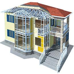 Prefabricated villa made of light steel