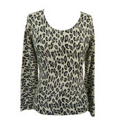 100% Women Cashmere Printed Sweater from Inner Mongolia Shandan Cashmere Products Co.Ltd