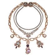 Fashion statement necklaces, multi-level claw chain, pendants can add logo