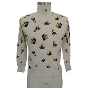 100% Cashmere Women with Delicate Intarsia from Inner Mongolia Shandan Cashmere Products Co.Ltd