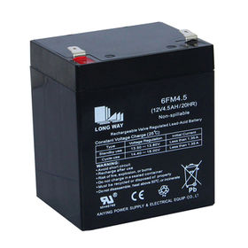 12V/4.5Ah Sealed Lead-acid Battery from China (mainland)