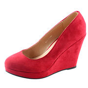 Red wedge dress shoes from China (mainland)