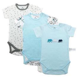 Short-sleeved baby romper