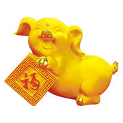 Chinese zodiac signs pig resin sculpture from China (mainland)