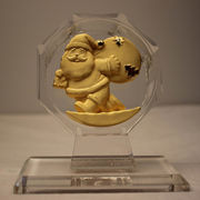 24K gold-plated holiday figurine from China (mainland)