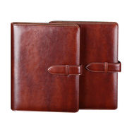 China Leather material and hard cover notebook, for business size in A4