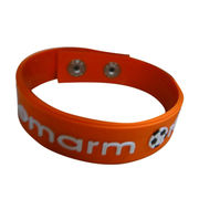 Silicone bracelets, customized silk screen print available from Iris Fashion Accessories Co.Ltd