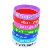 Silicone bracelets, customized silk screen print stencil logo available from Iris Fashion Accessories Co.Ltd