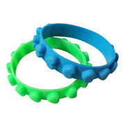Silicone bracelets, customized silk screen print, embossed logo available from Iris Fashion Accessories Co.Ltd