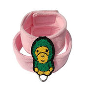 Pink Cotton Gentlemen Dog Scarf Pet Leashes from China (mainland)