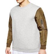 Men's nylon sleeve sweatshirt, customized design