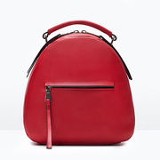 Daypacks, 2015 newest design red genuine leather with Zipper pocket for girl from Iris Fashion Accessories Co.Ltd