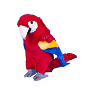 25cm red macaw parrot bird soft touch toys from China (mainland)