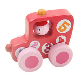 Colored Kids Small Craft Wooden Car Toy from China (mainland)