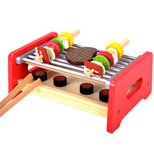 Pretend Play Wooden BBQ Grill Toys Manufacturer