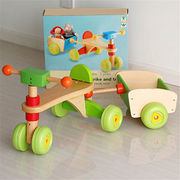 High Quality Solid Wood Toy Kids Wooden Tricycle from China (mainland)
