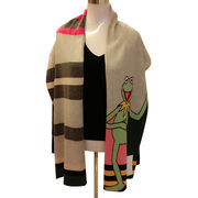 100% cashmere scarf with delicate intarsia from Inner Mongolia Shandan Cashmere Products Co.Ltd