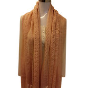 100% Cashmere Eyelet Scarf from Inner Mongolia Shandan Cashmere Products Co.Ltd