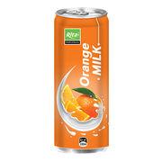 330mL Orange Milk Aluminum Can from Vietnam