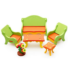 China DIY Wooden Children Puzzle Furniture Set