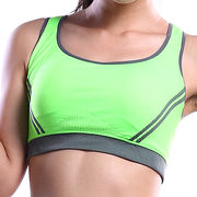 Sports bras, women's U-shape one piece cup,stretched design from Meimei Fashion Garment Co. Ltd