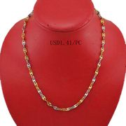 2 tone plated stainless necklaces from China (mainland)