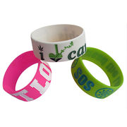 Silicone bracelets,different size available,logo infill,welcome OEM with small MOQ from Iris Fashion Accessories Co.Ltd