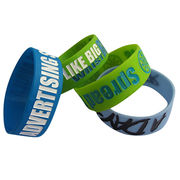 Silicone bracelets,different size available,silk print w/customer logo,welcome OEM from small MOQ from Iris Fashion Accessories Co.Ltd
