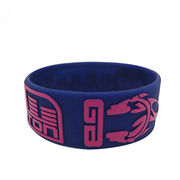 Silicone bracelets,silk print with customer logo,welcome OEM from small MOQ from Iris Fashion Accessories Co.Ltd