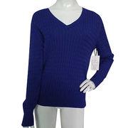 Women's V-neck Sweater from China (mainland)