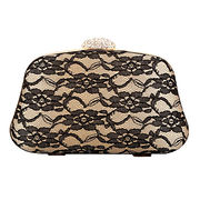 Evening bags, high quality silk classics design with lace styles for women, OEM & ODM are welcome