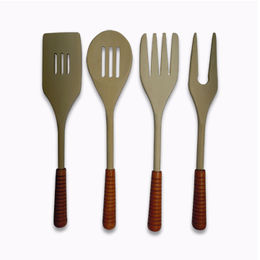 China 12-inch Durable Wooden Cutlery Dinnerware Set