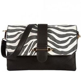 China Hot Selling Fashion Zebra Stripe Ladies PU Satche